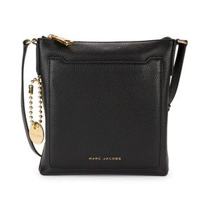 NWT🖤Marc Jacobs Black Leather Crossbody bag🖤